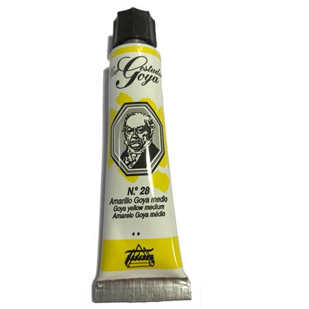 pinturas al oleo de titan goya color amarillo medio numero 28