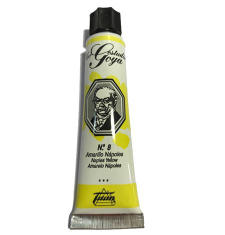 pinturas al oleo de titan goya color amarillo napoles numero 8