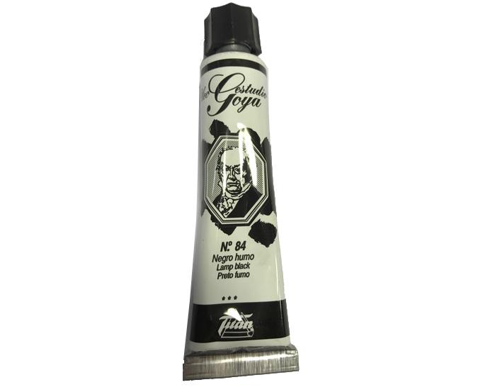 pinturas al oleo de titan goya color negro humo numero 84