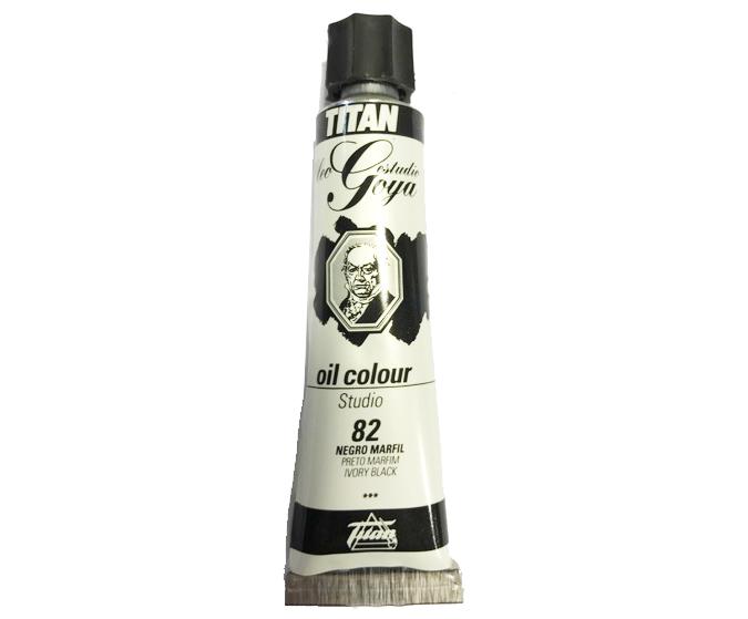 pinturas al oleo de titan goya color negro marfil numero 82