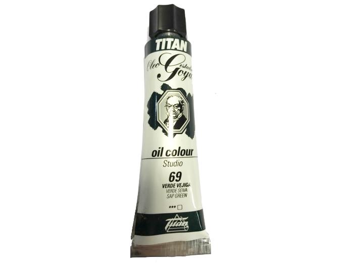 pinturas al oleo de titan goya color verde vejiga numero 69