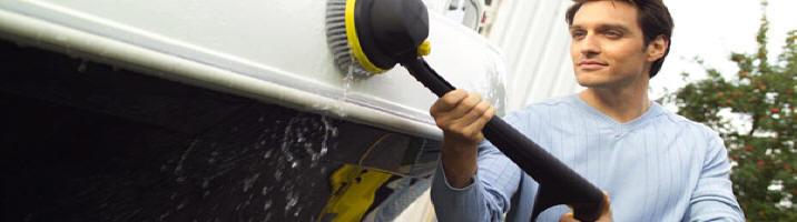 Limpiadora a presión Karcher para embarcaciones.