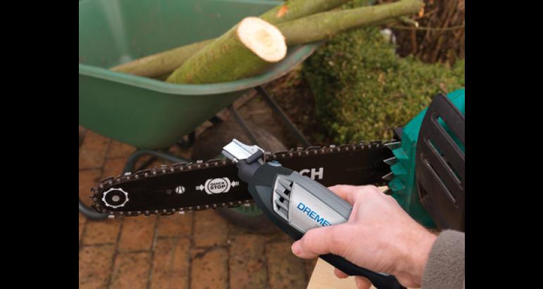 Muelas para afilar cadenas de motosierra con herramientas dremel