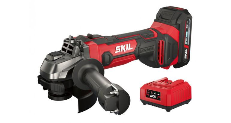 Amoladora Skil 3920AA  con baterías a 18V potente y compacta para disco de 115mm