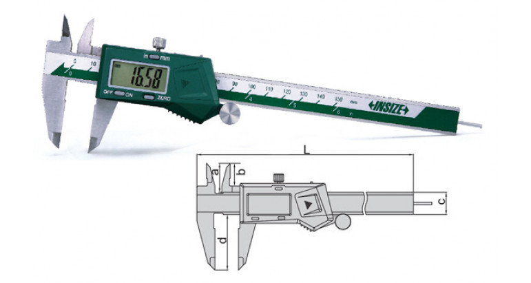 Calibre digital Insize 1119 con varilla redonda