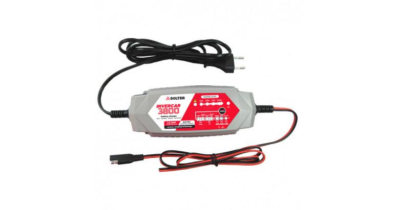 Cargador automatico para baterias de coche Solter Invercar 3800
