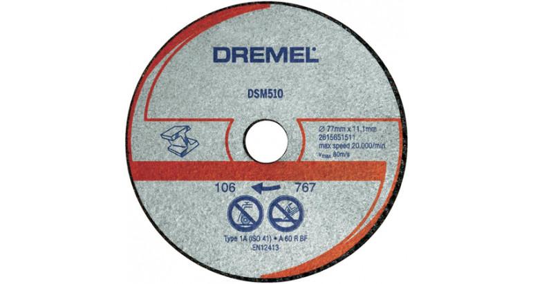 Disco Dremel para corte en metales y plastico DSM510 para la multiherramienta Dremel DSM20