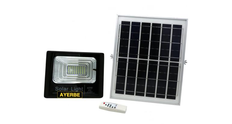 Foco solar Led 40W con mando a distancia