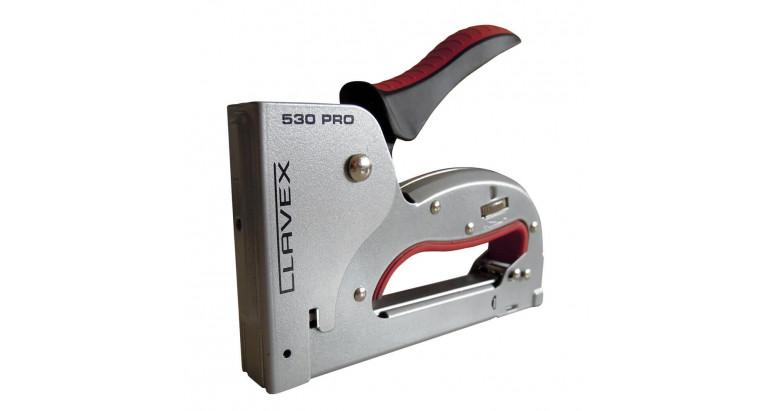 Grapadoras profesionales Clavex PRO 530, metalica