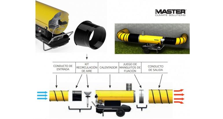 Kit de recirculacion de aire Master para cañones de gasoil BV