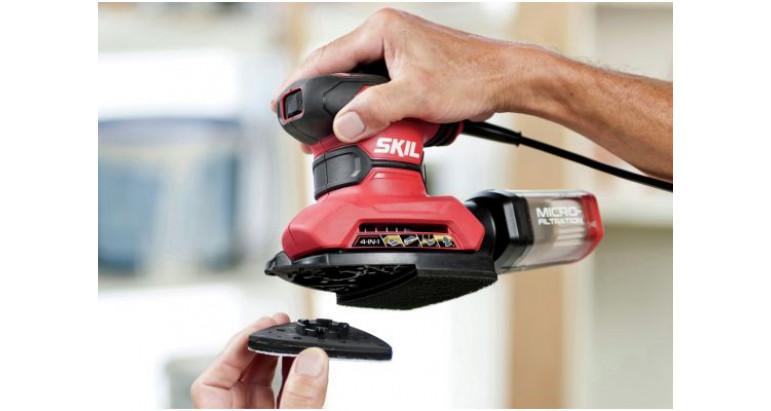 Sistema facil de intercambio de lijado Skil 7261AD