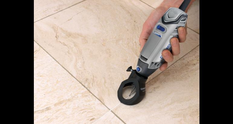 Aplicacion para limpiar lechada de azulejos dremel 568