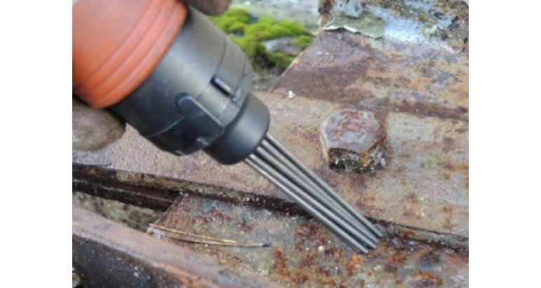 Martillo de agujas neumático para quitar oxido