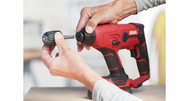 Martillo percutor batería Skil 3810GA con portabrocas adicional sds+ y automático