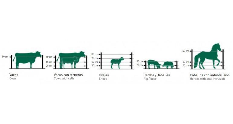 Distancia de los hilos para instalar un vallado electrificado para ganado
