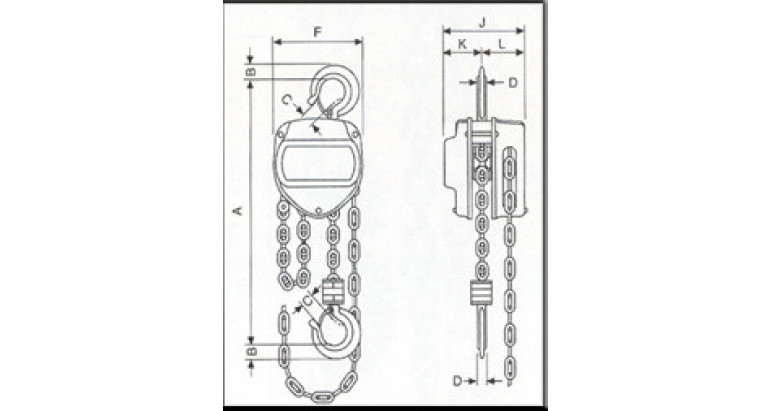 Medidas polipasto AY-PROF-1000-P