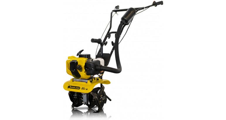 Motocultor pequeño para trabajar la tierra y limpiar hortaliza Garland Mule 341