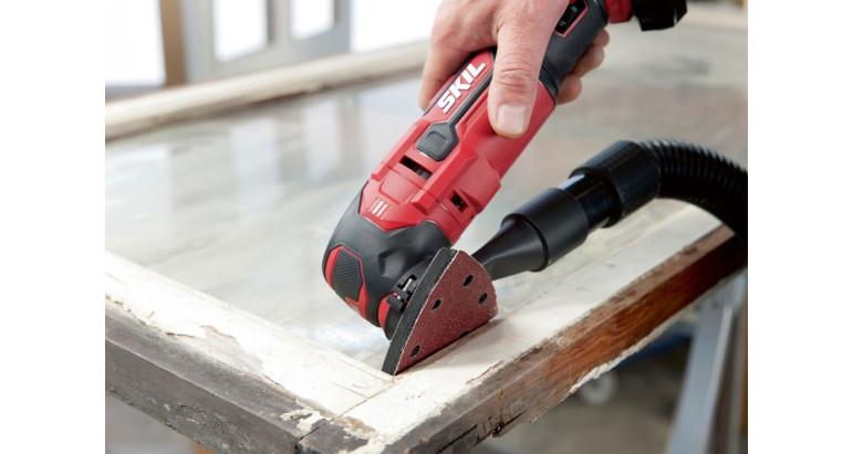 Skil 3620AA es una multiherramienta a la que puedes acoplar un aspirador si fuese necesario