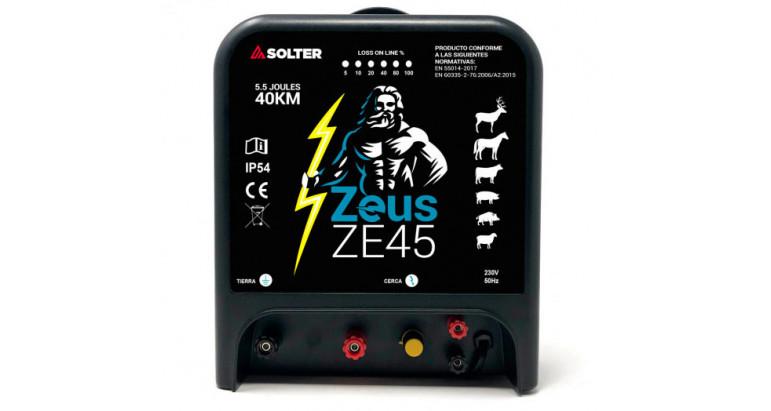 Pastor electrico para vallas electrificadas Solter Zeus Zeus45