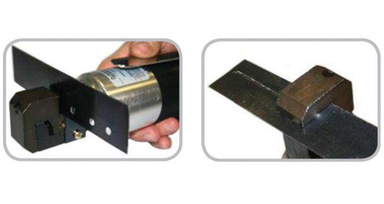 Realizar agujeros con la punzonadora neumática y realizar dobles para solapas con la dobladora neumática lar-325k.