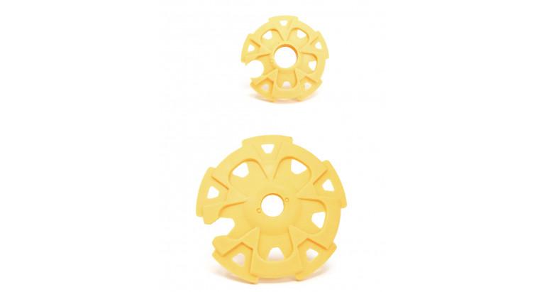 Rosetas amarillas para bastones Altus modelo Bambu