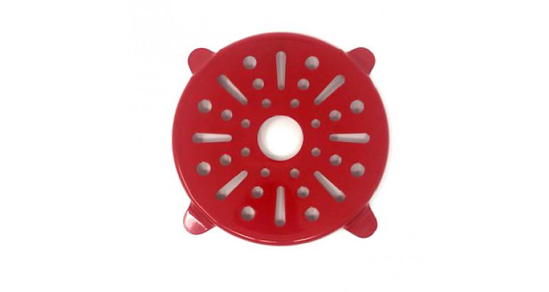 Salvamanteles metalico rojo 18 cm