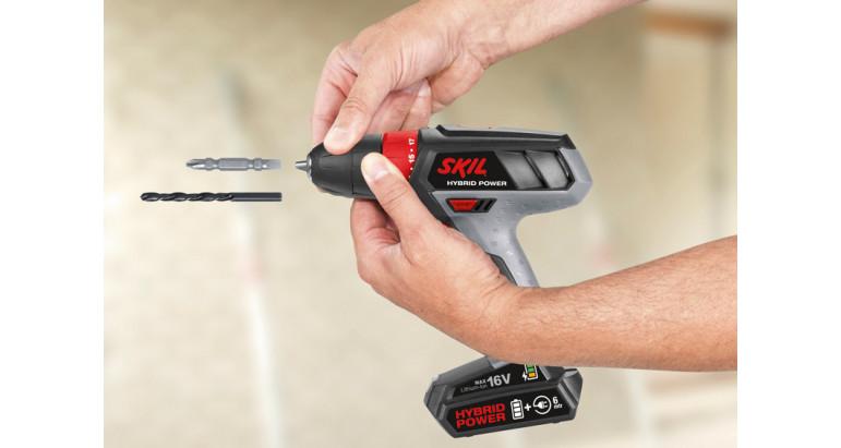 Taladro atornillador Sklil 2461AA a batería con portabrocas de cierre rápido