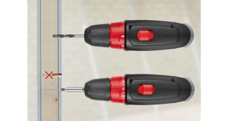 Taladro atornillador Skil 2832AA elige la fuerza necesaria para un atornillado preciso