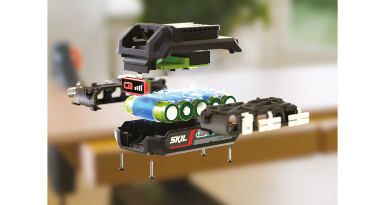 Alta tecnología en las baterías Skil para taladros y atornilladores de gama profesional