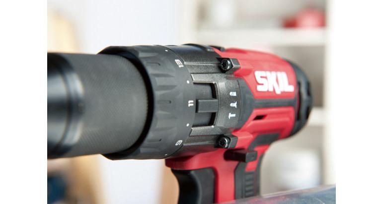Taladro Skil 3020 HB con pares de apriete y selector facil de atornillado, taladro o percutor