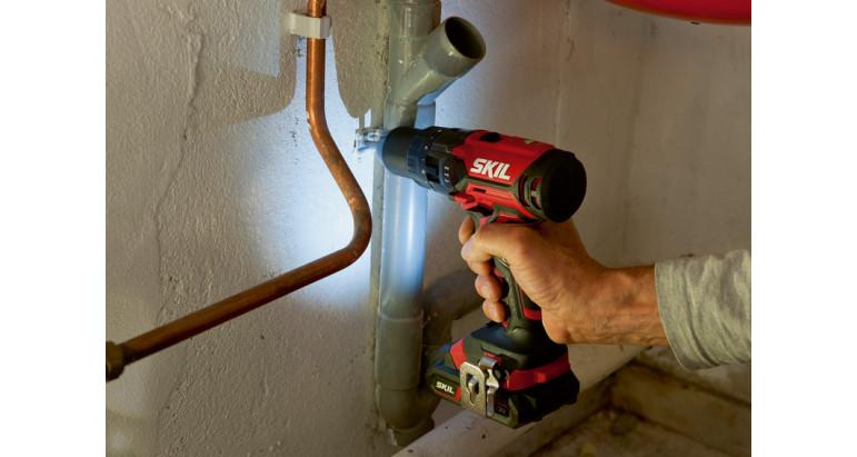 Taladro percutor profesional con luz inicadora LED