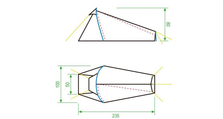 Dimensiones de la tienda de campaña Altus, Avin 1