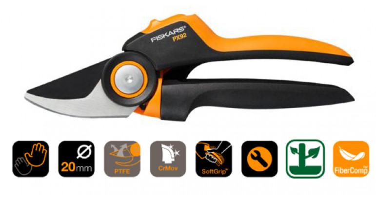 Tijeras de poda Fiskars PX92 con mango giratorio,