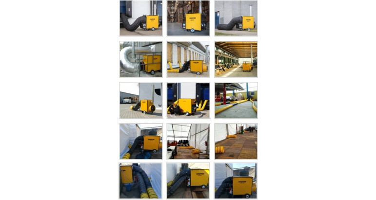 Usos del generador de calor a gasoil Master BV 471 FS
