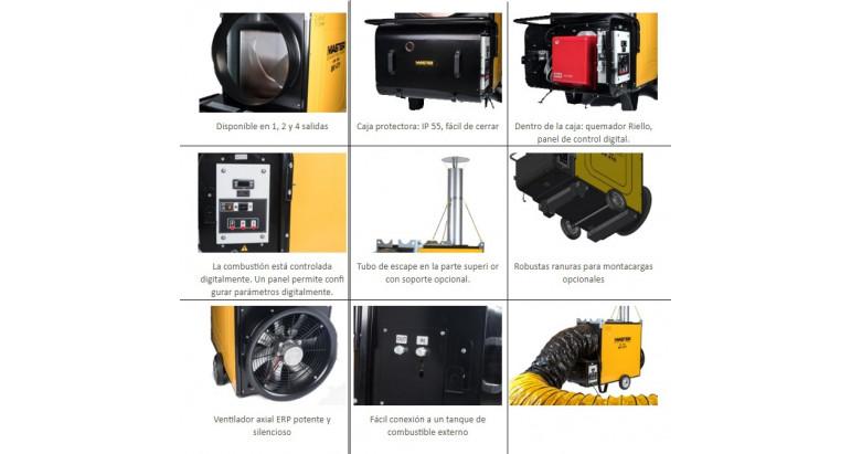 Ventajas de un generador de calor industrial Master Bv 471 fs
