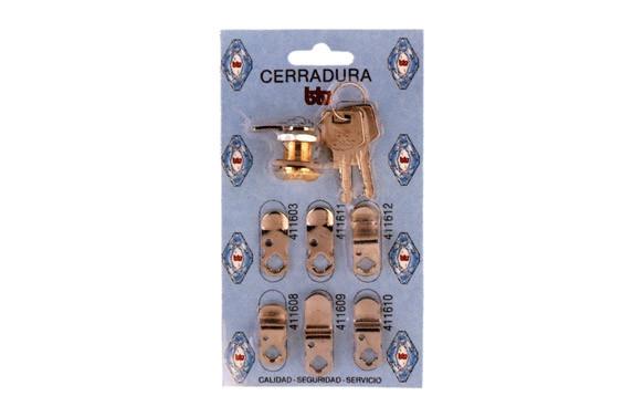 CERRADURA P/BUZON KIT-1 CROMO