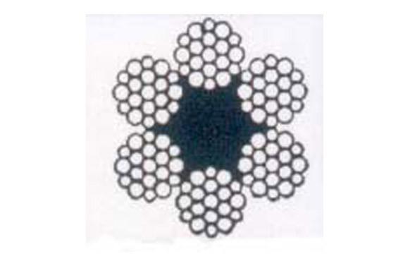 CABLE ACERO GALVANIZADO ROLLO 50 M Ø 10 (6 X 19) +1 ALMA TEXTIL