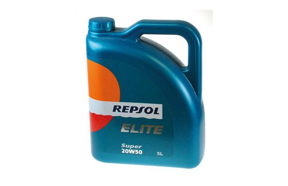 ACEITE REPSOL ELITE SUPER 20W50 5 L.