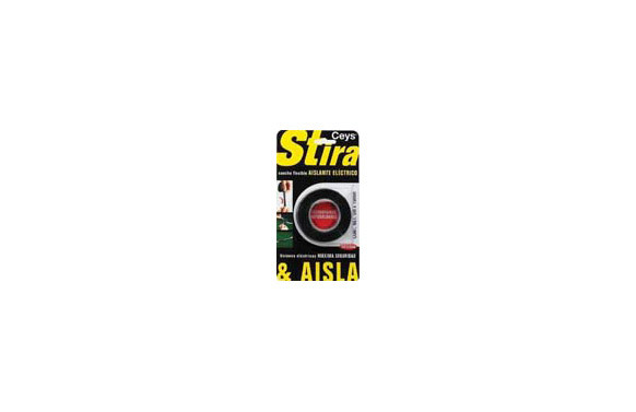 STIRA Y AISLA 3M X 19MM NEGRO
