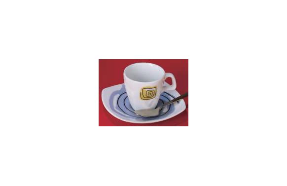 TAZA CAFE PORCEL DECOR JGO 6U LAPIZ NEGRO