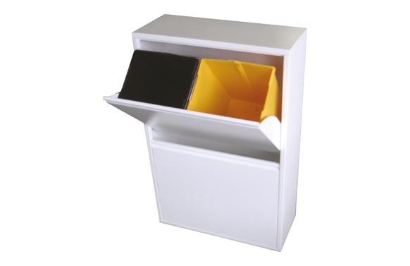 Contenedor basura ecologico 4 dep. blanco 9606433