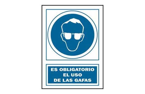 SEÑAL USO GAFAS OBLIGAT PVC 130 OBA-CAT