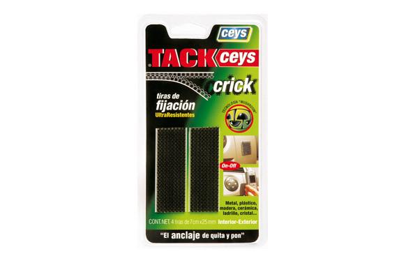 TACKCEYS CRICK 4 TIRAS 5 CM NEGRO