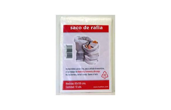 SACO RAFIA PARA ESCOMBROS (10 UNIDADES) 60 X 100 CM