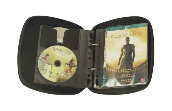 ESTUCHE 32 DVD TRANSPARENTE