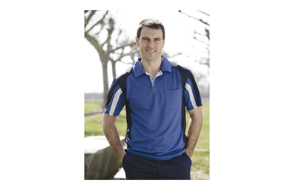 POLO COOLWAY TOP RANGE T.L AZUL / NEGRO