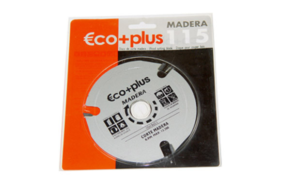 DISCO CORTE MADERA ECO+PLUS 115X3,8X22MM