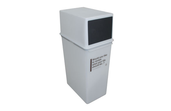 CUBO APILABLE TAPA ABATIBLE 22.5X35X61.5 25L-ICE