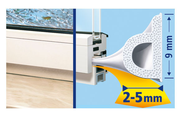 TESAMOLL CAUCHO PERFIL P 25M X 9MM BLANCO