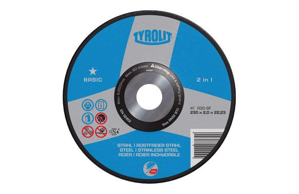 DISCO CORTE ACERO/INOX BASIC 230X2X22 PLANO
